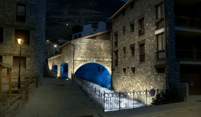 Iluminación del Río de Montaup a Canillo