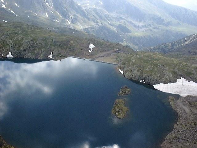 Vall del Riu lake: the most recent dam
