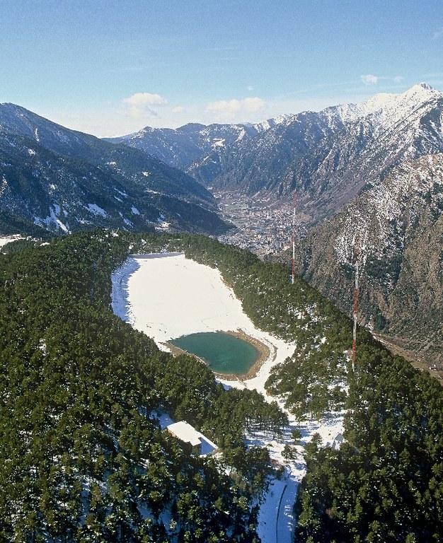 El lago de Engolasters: el más accesible